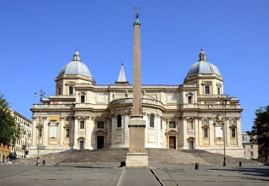 Basílica de Santa Maria Maggiore, fachada a la Piazza dell'Esquilino