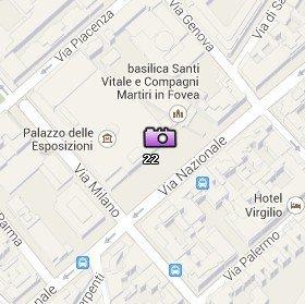 Situación del Palacio de Exposiciones en el Mapa de Roma