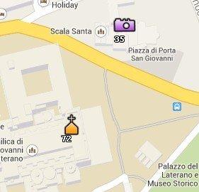 Situación de San Giovanni in Laterano en el Mapa de Roma