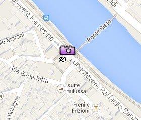 Situación de la Piazza Trilussa en el Mapa de Roma