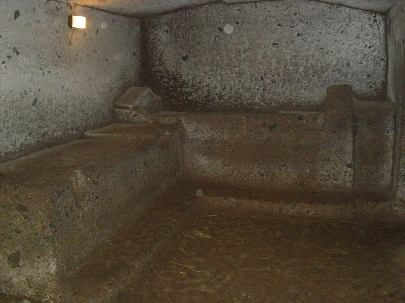 Tomba dei Vasi Greci, Necrópolis Banditaccia, Cerveteri