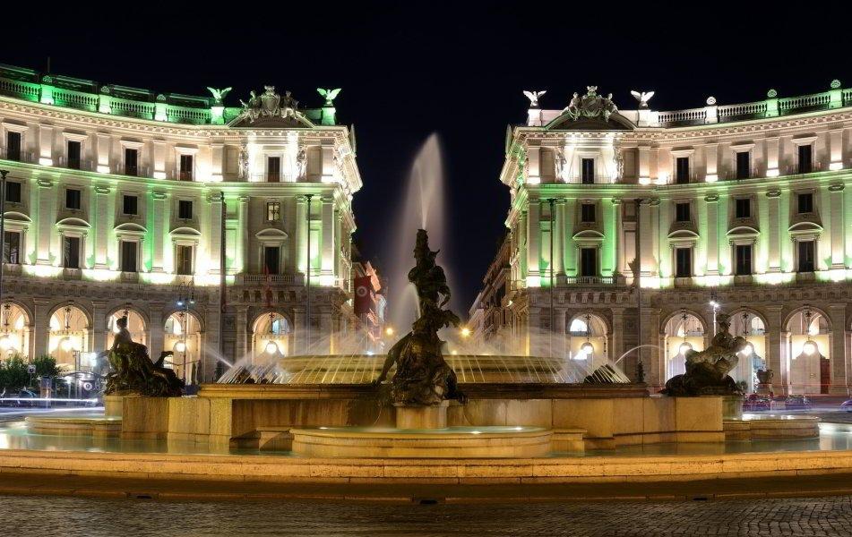 Piazza della Repubblica - rione Castro Pretorio