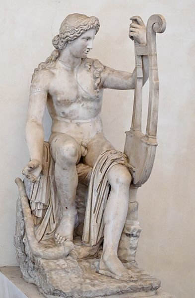 Escultura de Apolo Citaredo en el Palazzo Altemps