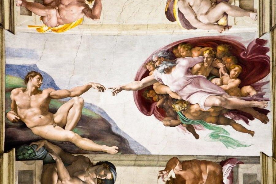 Creación de Adán en la Capilla Sixtina