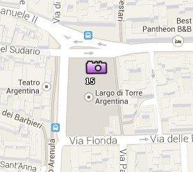 Situación del Área Sacra en el Mapa de Roma