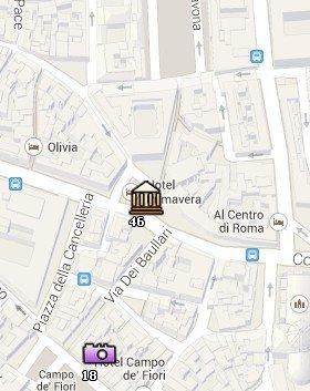 Situación del Museo Barracco en el Mapa de Roma