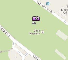 Situación del Circo Máximo en el Mapa de Roma
