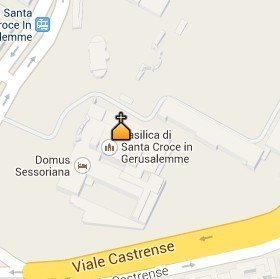 Situación de la Basílica de la Santa Cruz de Jerusalén en el Mapa de Roma