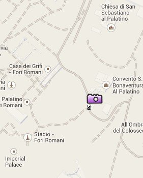 Situación del Palatino en el Mapa de Roma