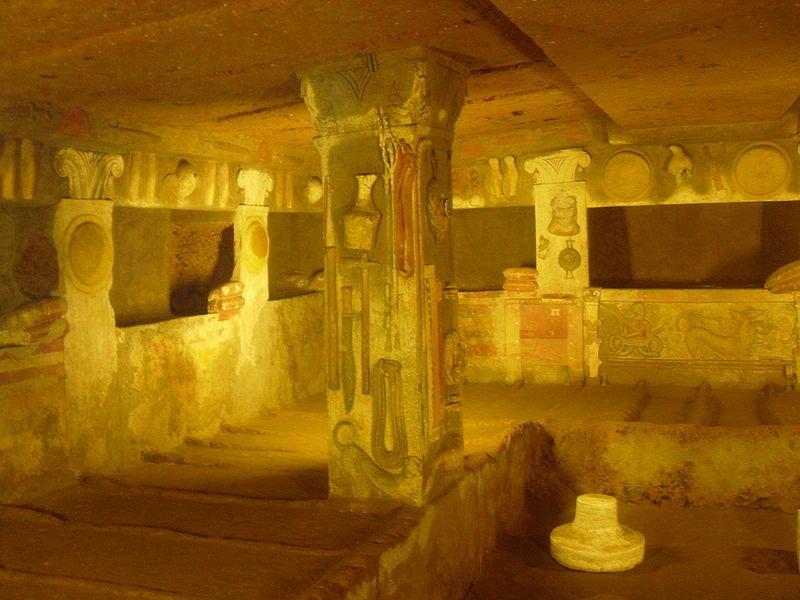Tomba dei Rilievi, Necrópolis Banditaccia, Cerveteri
