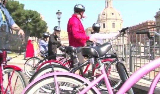 La historia de Roma en bicicleta