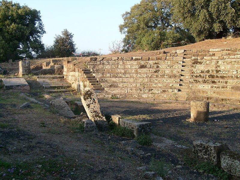 Restos del anfiteatro de Tusculum
